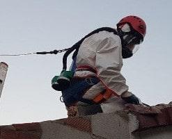 Retirada de amianto en Jaén